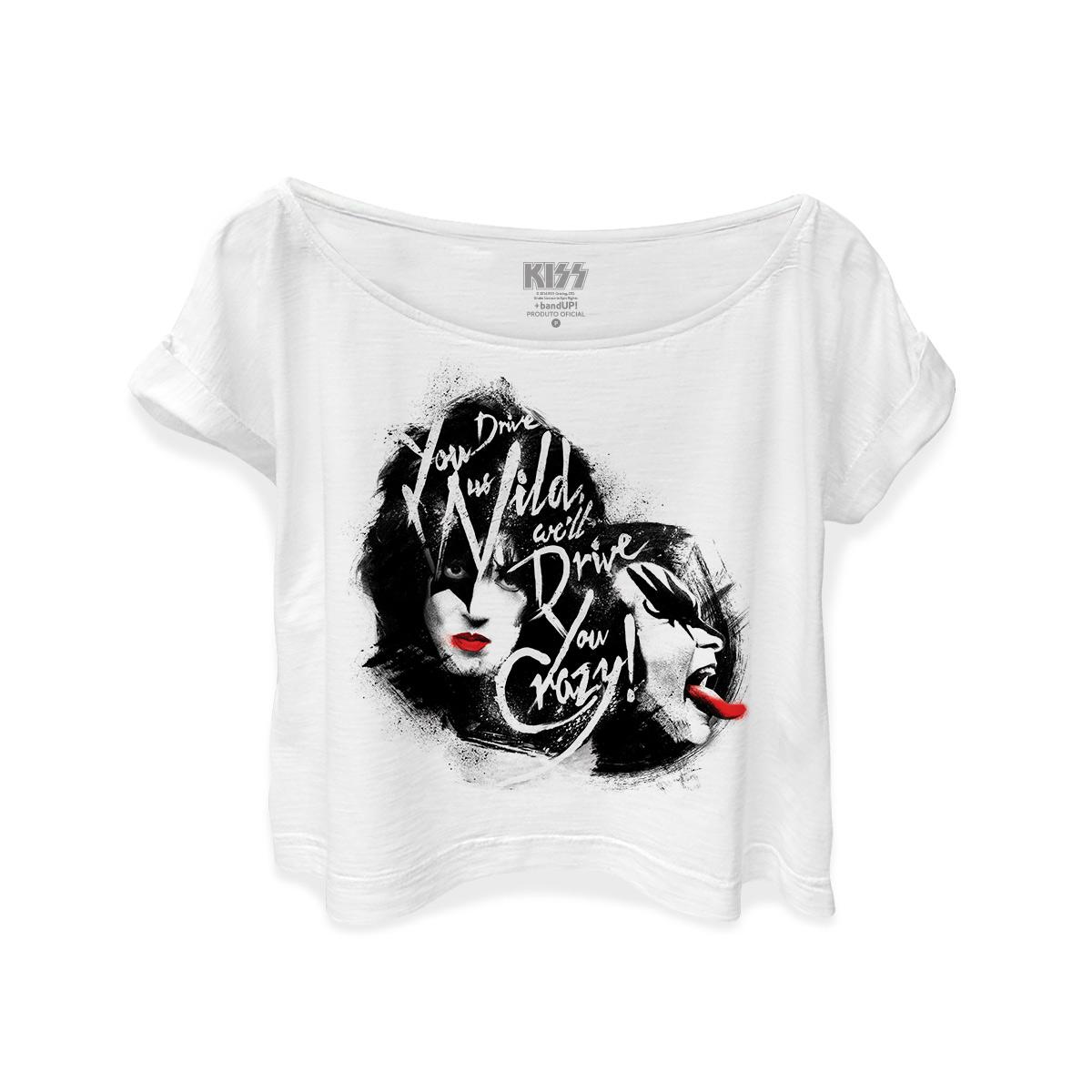 T-shirt Premium Feminina Kiss Dressed To Kill
