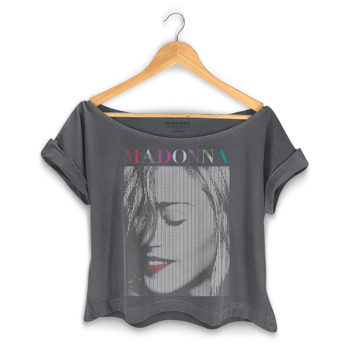 T-shirt Premium Feminina Madonna Red Lips