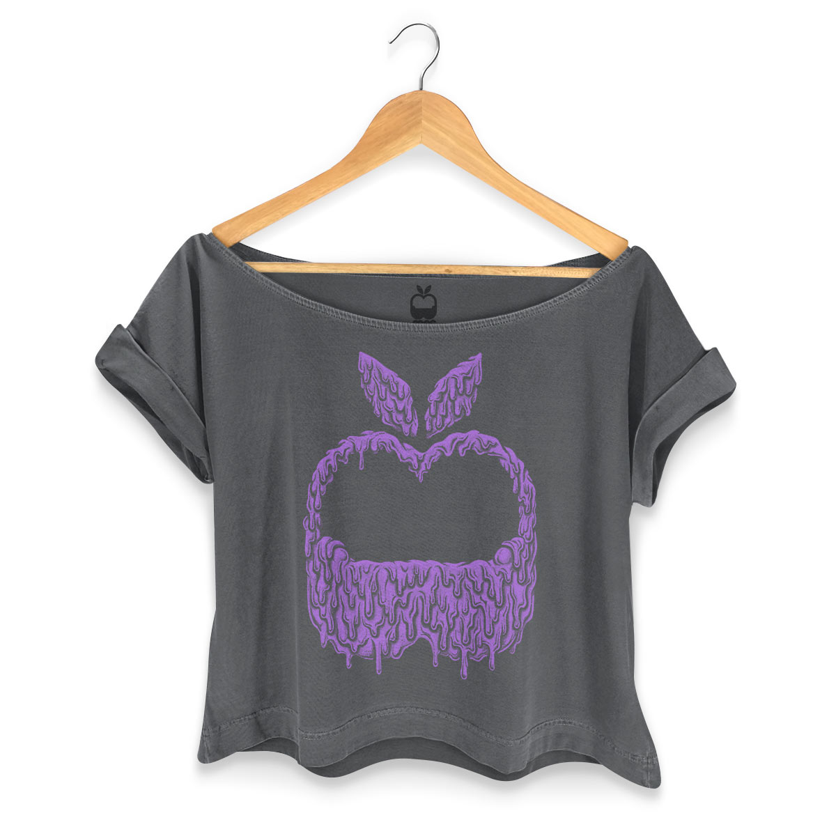 T-shirt Premium Feminina Monstra Maçã Slime