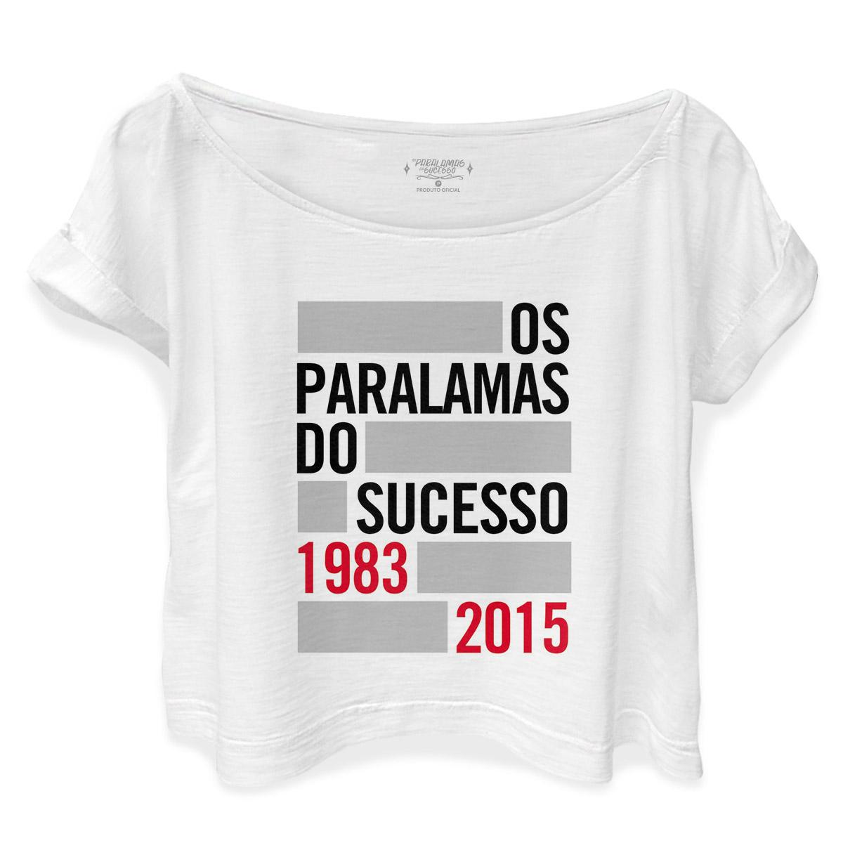 T-shirt Premium Feminina Os Paralamas do Sucesso 1983-2015