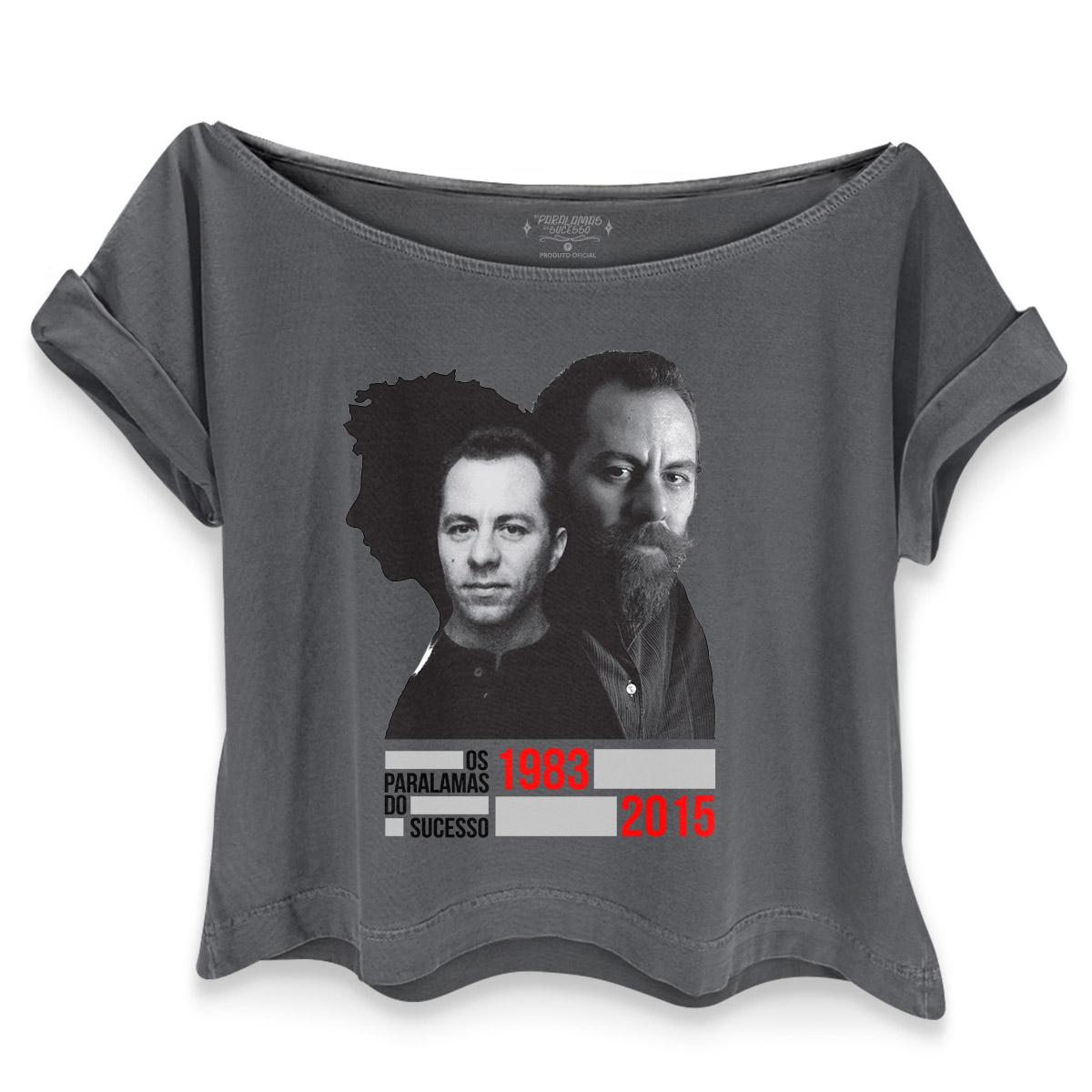 T-shirt Premium Feminina Os Paralamas do Sucesso Bi Ribeiro 1983-2015