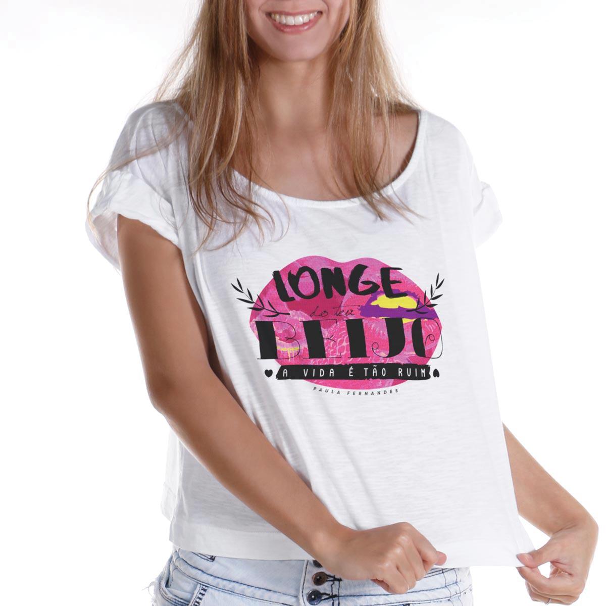 T-shirt Premium Feminina Paula Fernandes Longe do Teu Beijo
