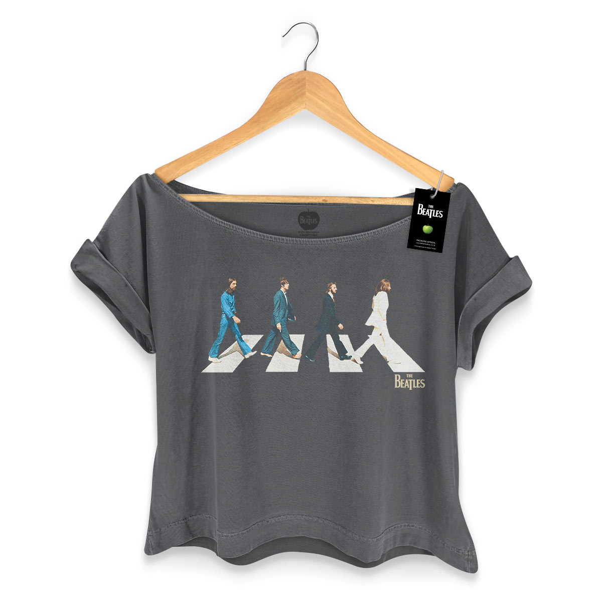 T-shirt Premium Feminina The Beatles Abbey Road
