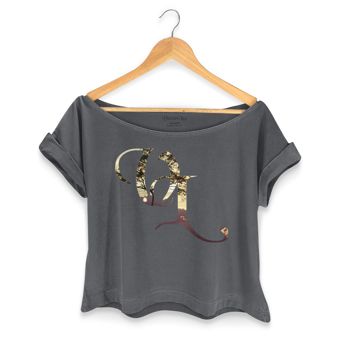 T-shirt Premium Feminina Victor & Leo Logo