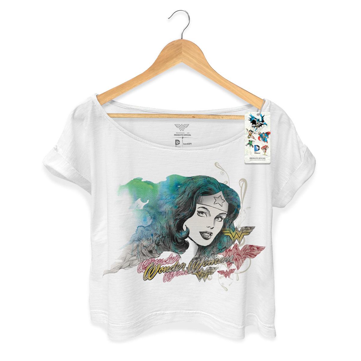 T-shirt Premium Feminina Wonder Woman Nature Force