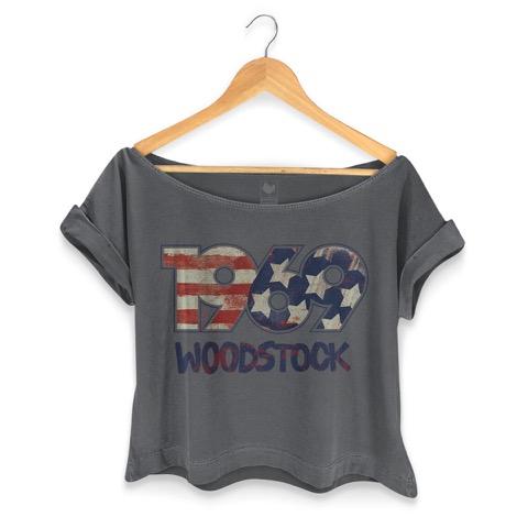 T-shirt Premium Feminina Woodstock 1969