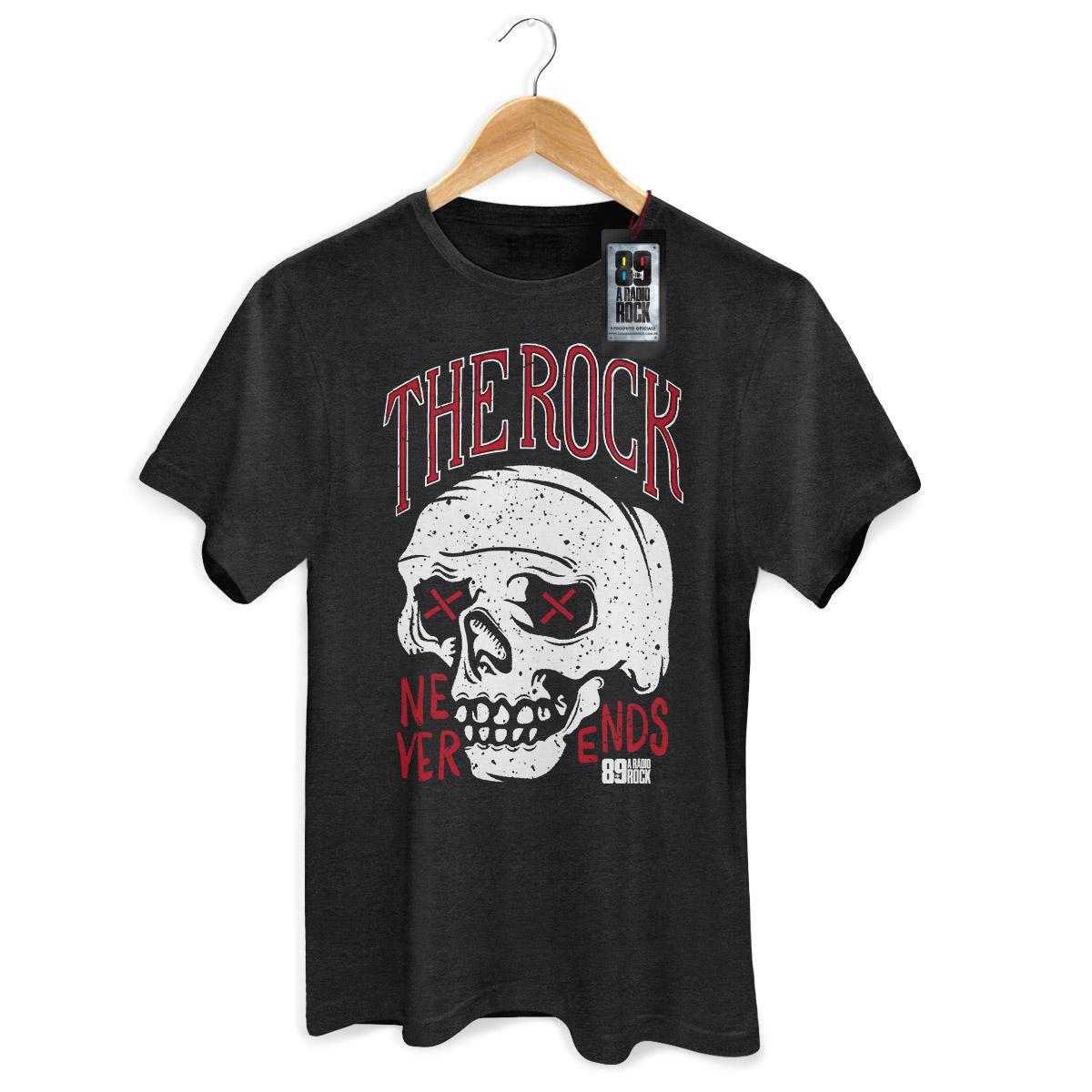 Camiseta Masculina 89FM Never Ends Skull