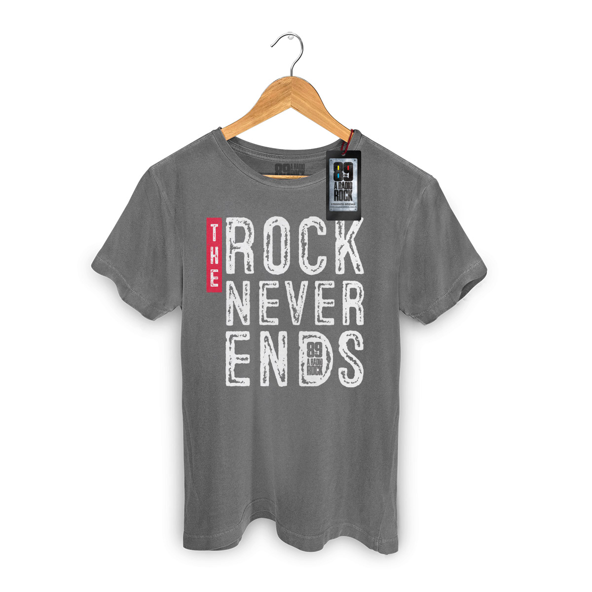 T-shirt Premium Masculina 89FM The Rock Never Ends Type