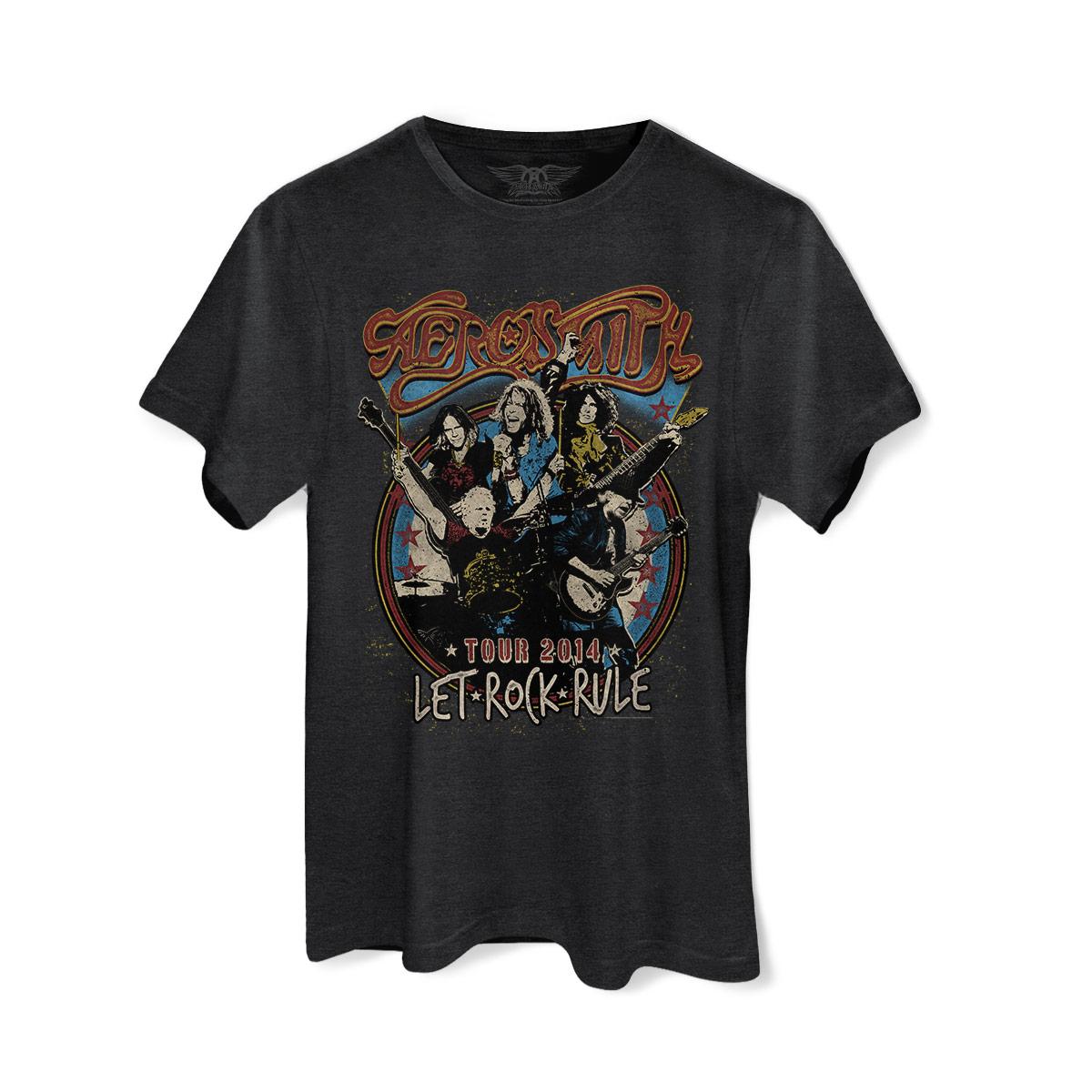 T-shirt Premium Masculina Aerosmith Let Rock Rule Photo