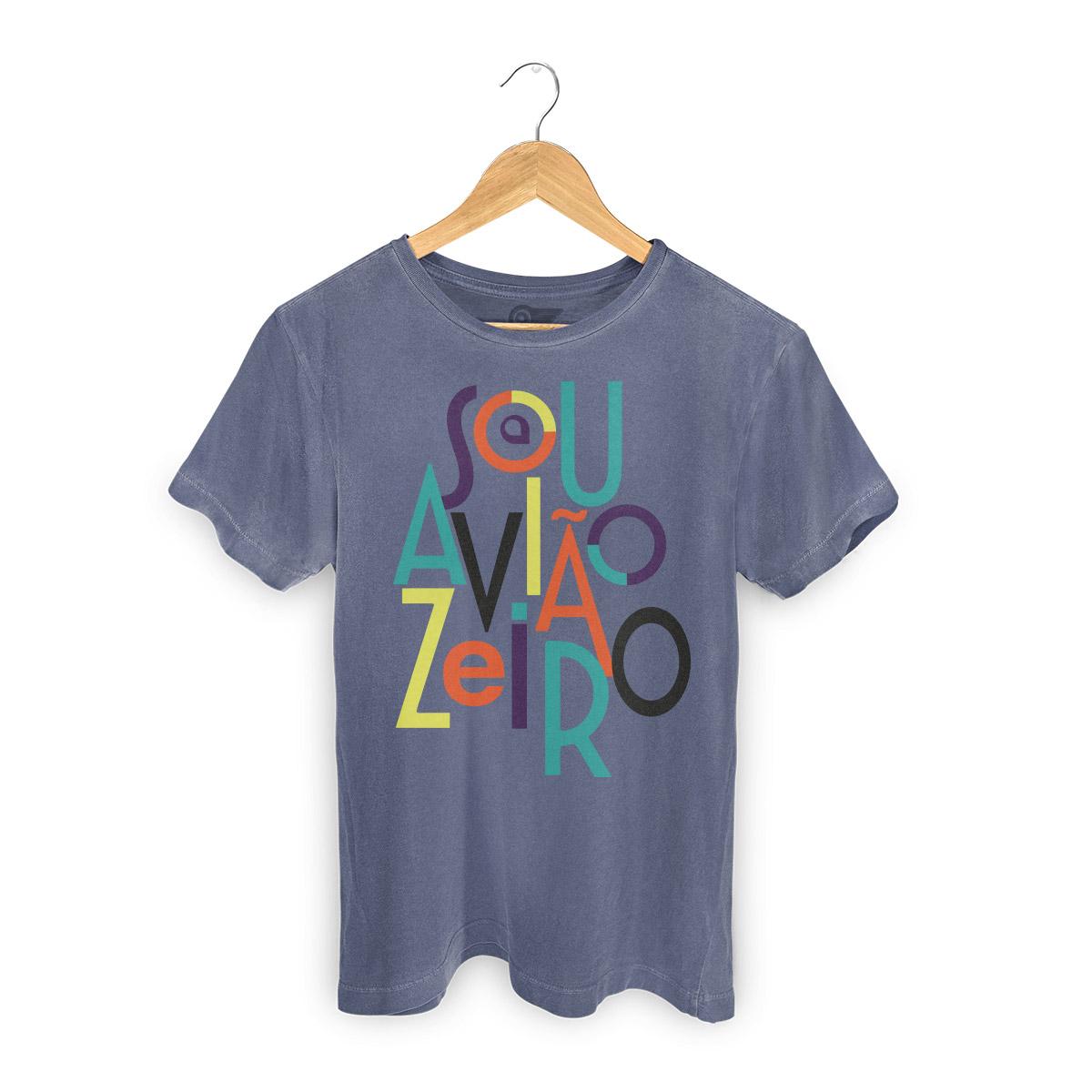 T-shirt Premium Masculina Aviões do Forró Sou Aviãozeiro