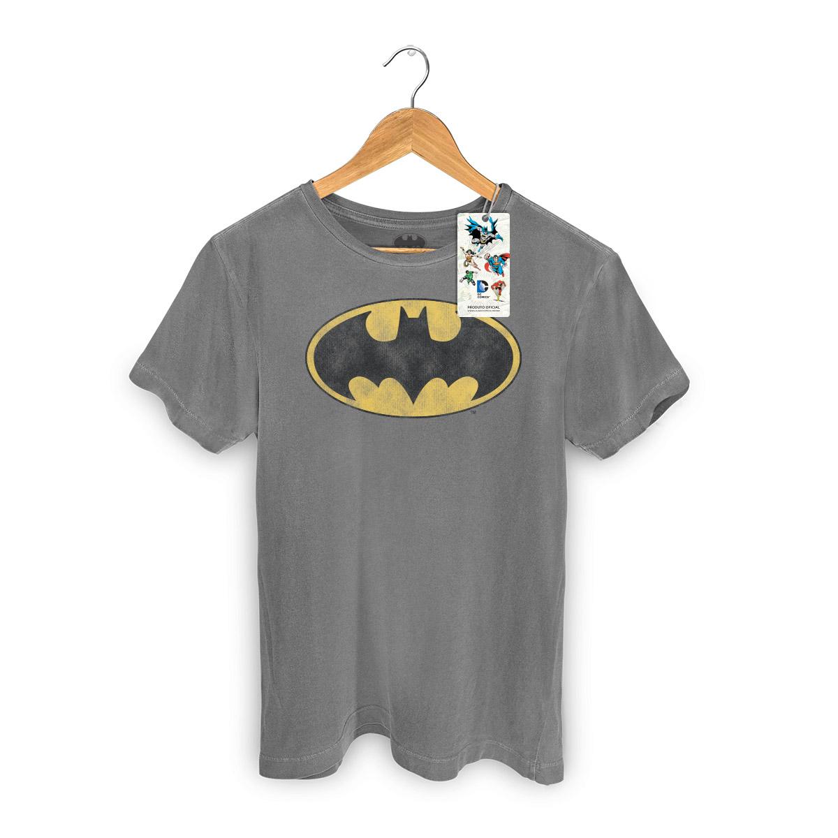 T-shirt Premium Masculina Batman Logo Clássico