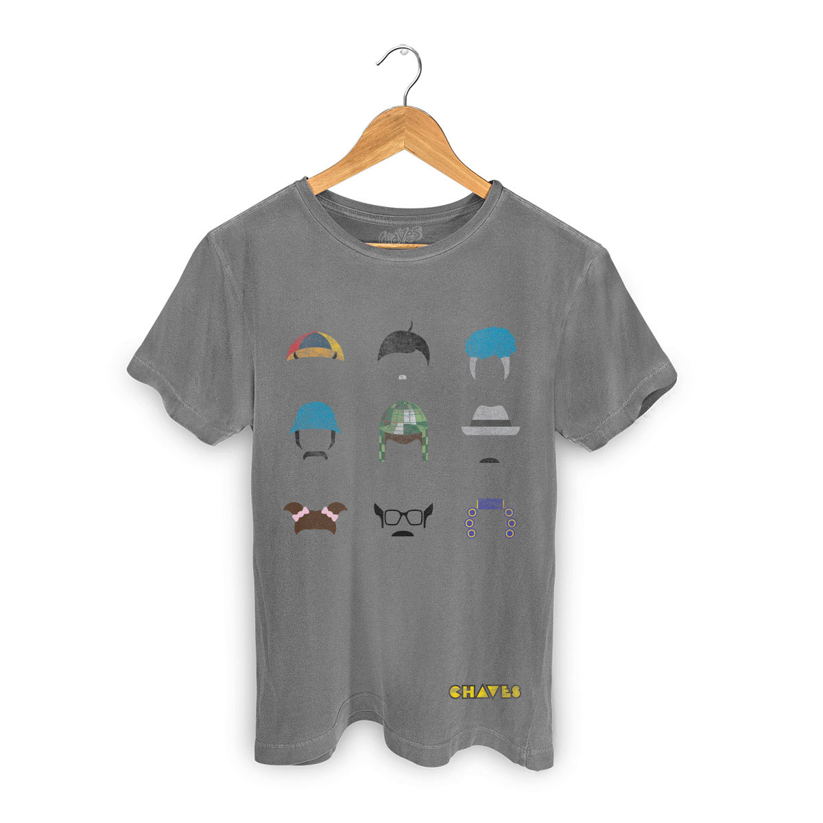 T-shirt Premium Masculina Chaves Ícones Vizinhança