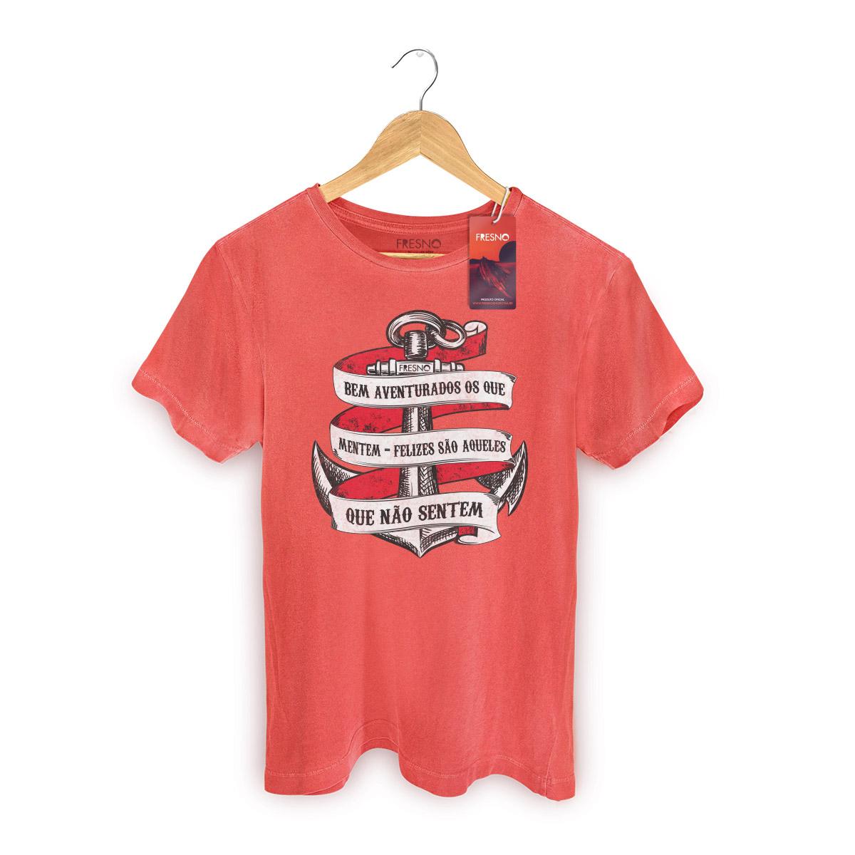 T-shirt Premium Masculina Fresno Bem Aventurados os Que Mentem
