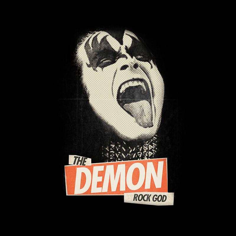 T-shirt Premium Masculina Kiss Rock God