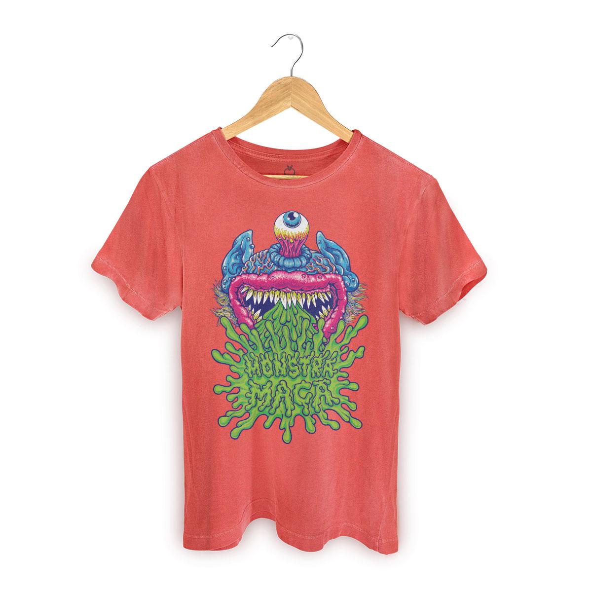 T-shirt Premium Masculina Monstra Maçã Puke
