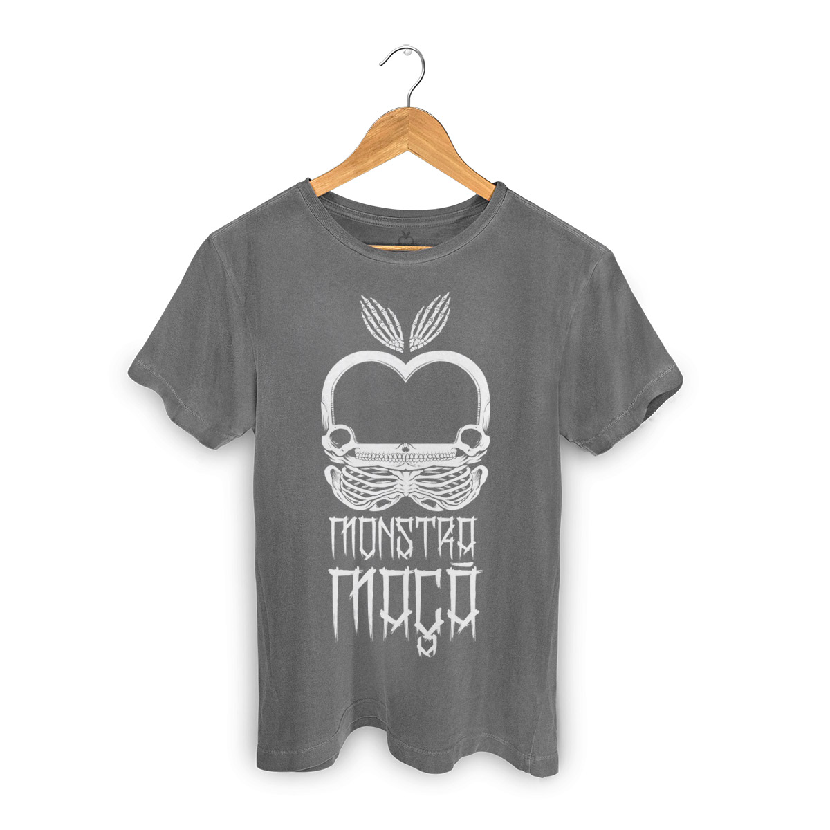 T-shirt Premium Masculina Monstra Maçã Skulls