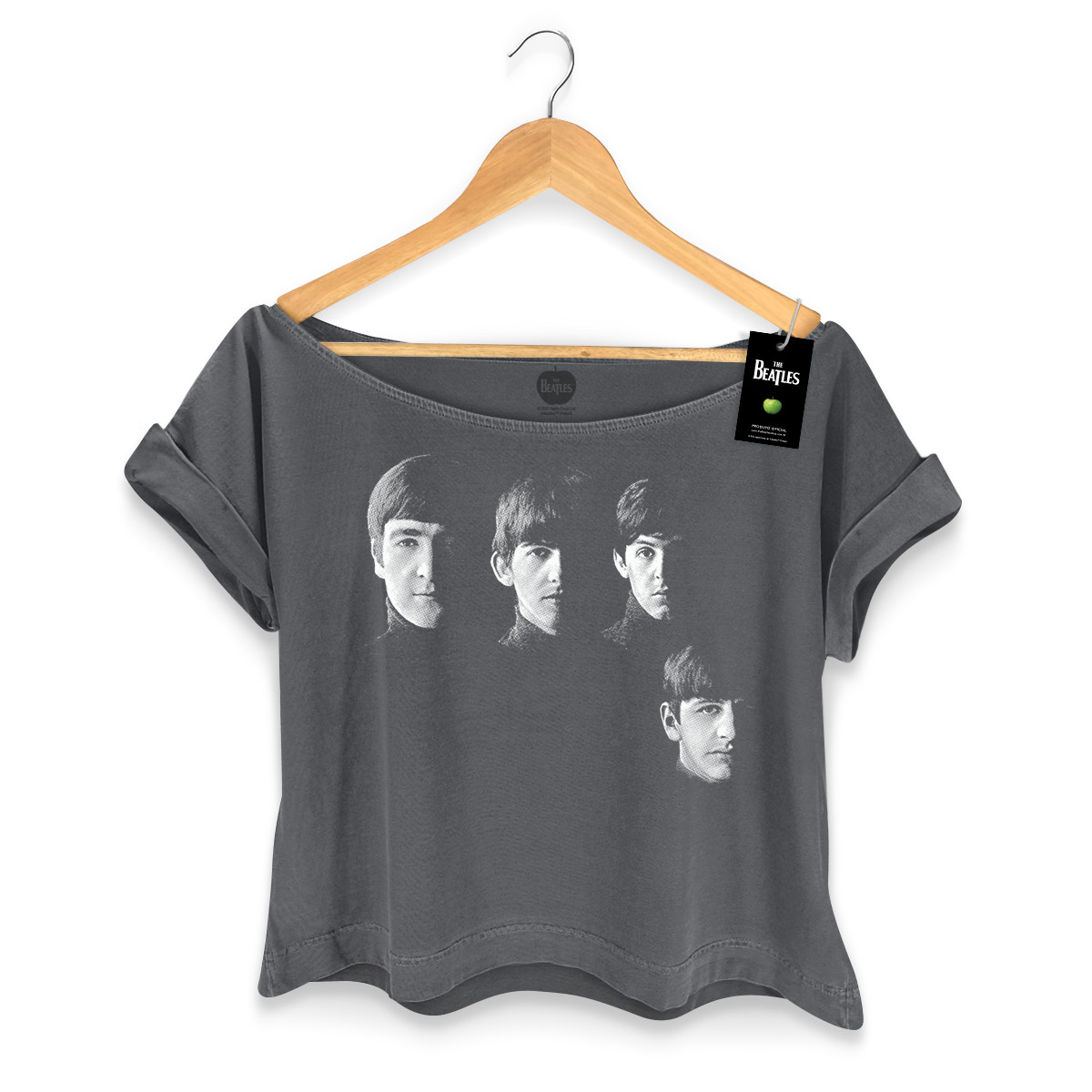 T-shirt Premium Feminina The Beatles With The Beatles