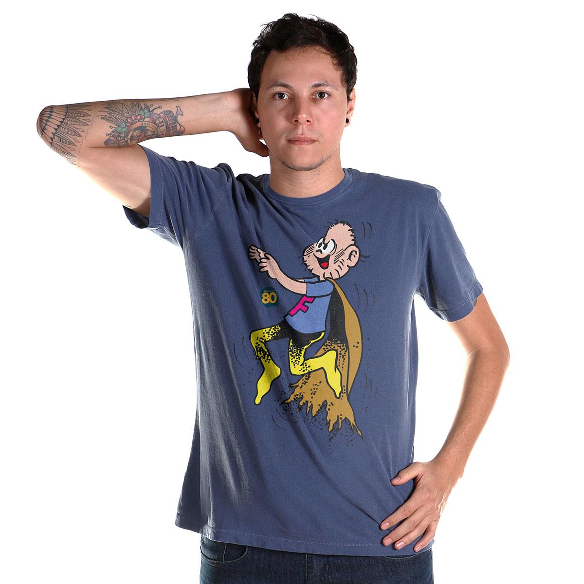 T-shirt Premium Masculina Turma da Mônica Capitão Feio