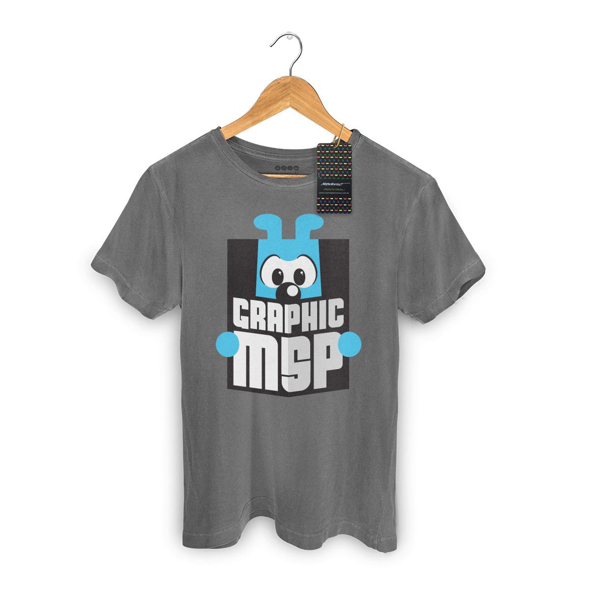 T-shirt Premium Masculina Turma da Mônica Graphic MSP
