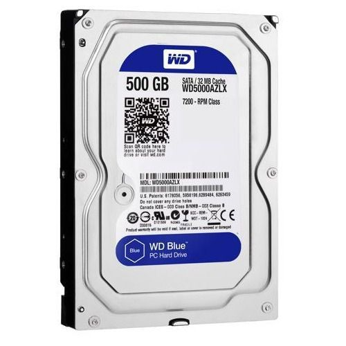 HD Interno 500gb 3,5 Western Digital Blue Sata III 7200rpm 32mb Nacional - Wd5000azlx