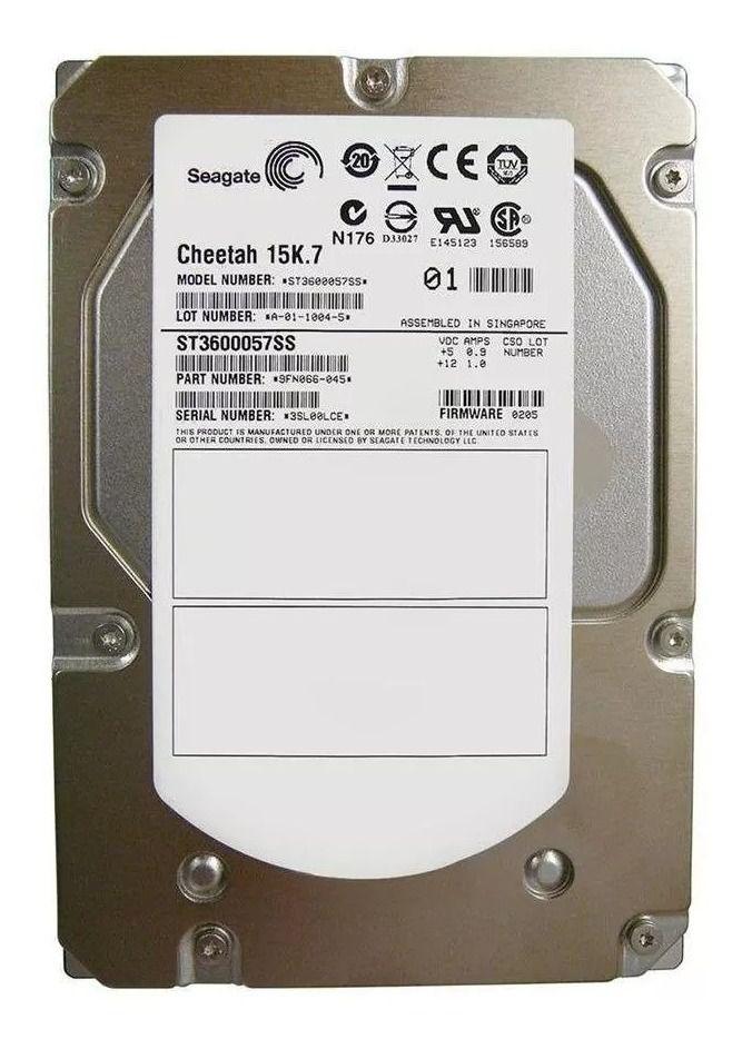 HD Interno SEAGATE Cheetah 600GB SAS 3,5 15k - ST3600057SS / 9FN066-045