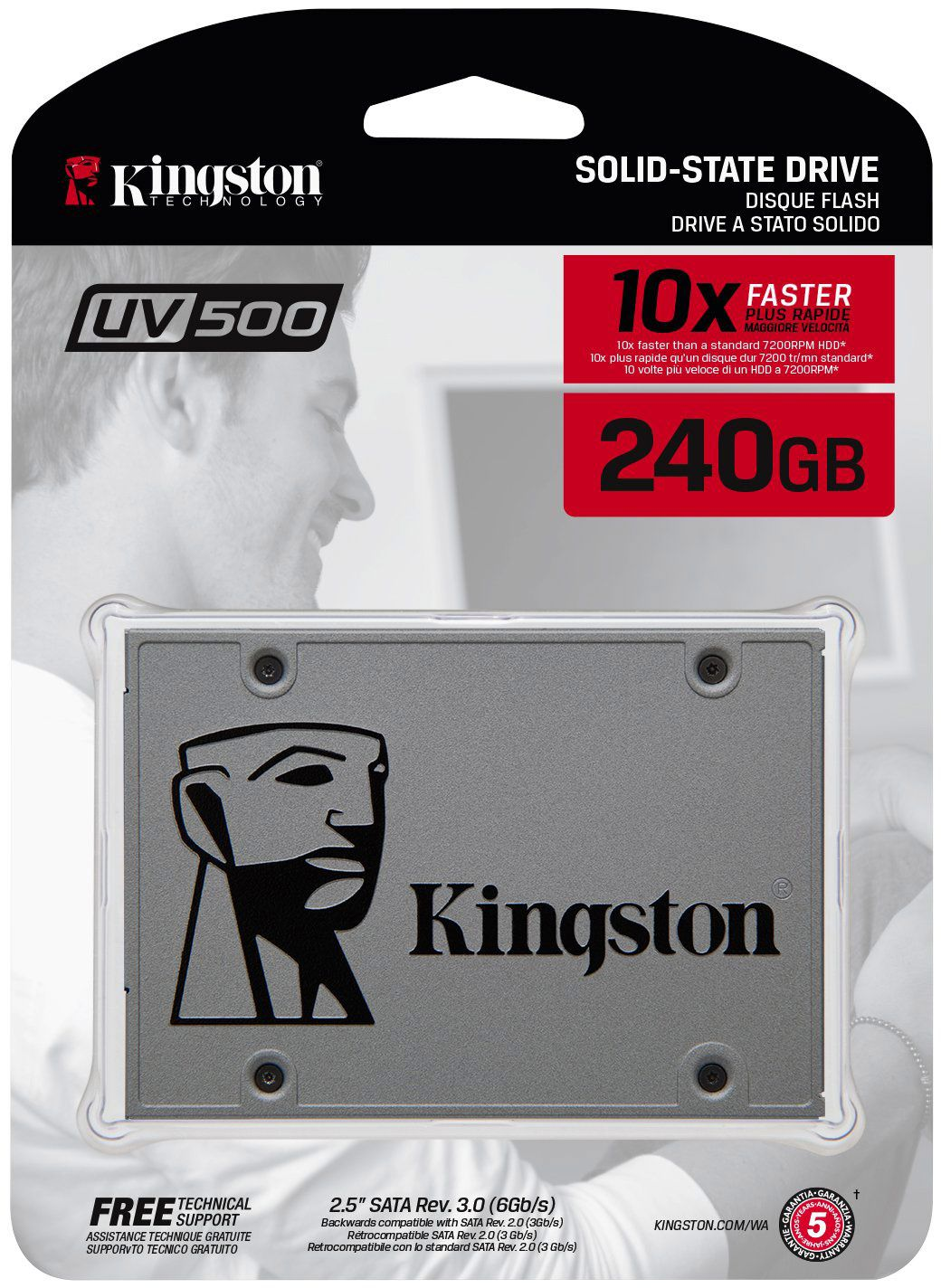 SSD 240GB - SUV500/240G SATAIII  UV500 - Kingston