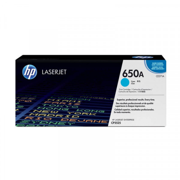 Toner HP 650A Azul (CE271A)