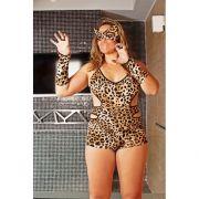 Macaquinho Tigresa - Plus Size - Acompanha Máscara e Luvas - Referência 51329/0100