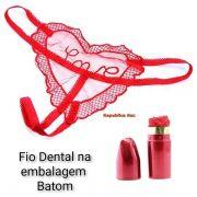 Calcinha de Renda escrito LOVE formato Batom - Lingerie - Refer: EVA622/0103