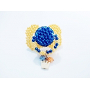 Chupeta Age Play artesanal  decorada - Ref. chu 500/0124 Amarela e Pingente