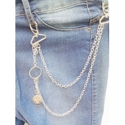 Corrente para calça biju artesanal - Lobo  - Ref. BIJU 400/0119