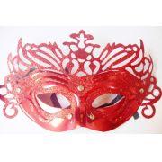 Máscara P/Festas - Veneziana - Vermelha - referência 14528/0207A