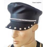 Quepe Couro Oficial Police - Ref. BO010/0107
