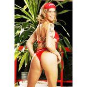 Fantasia Salva Gato Vermelho c/ Viseira - referência 571/0101