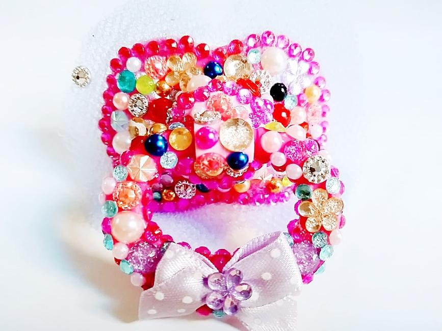 Chupeta Age Play  artesanal  decorada - Ref. chu 500/0124 V PEDRAS