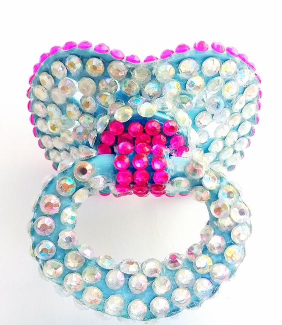Chupeta Age Play Adulto artesanal - Ref. chu 500/0124 Azul,  e Pink