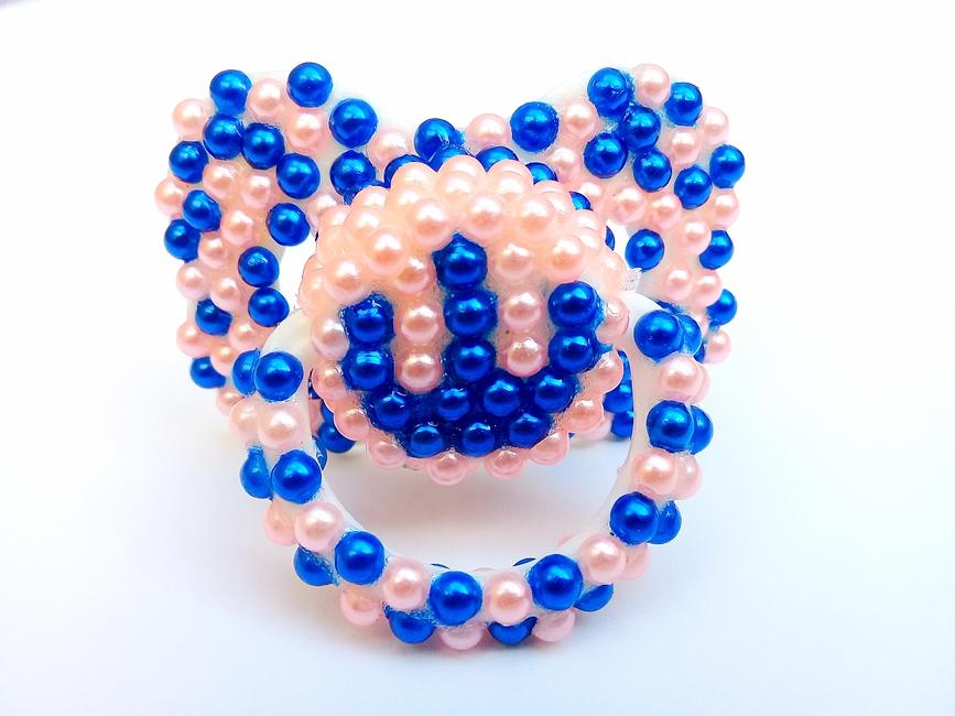 Chupeta Age Play Adulto artesanal - Ref. chu 500/0124 Azul Rosa