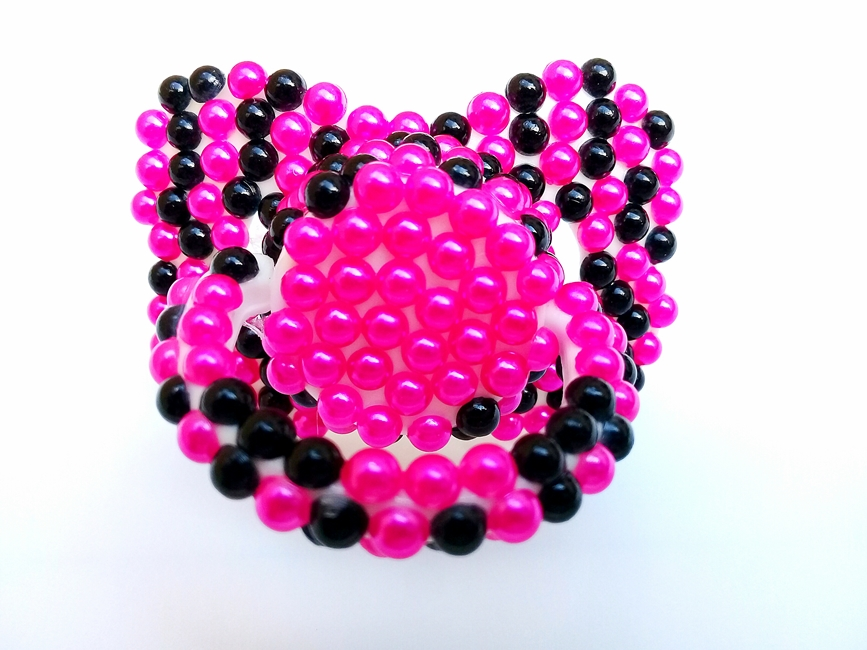 Chupeta Age Play  artesanal - Ref. chu 500/0124 Pink Preto