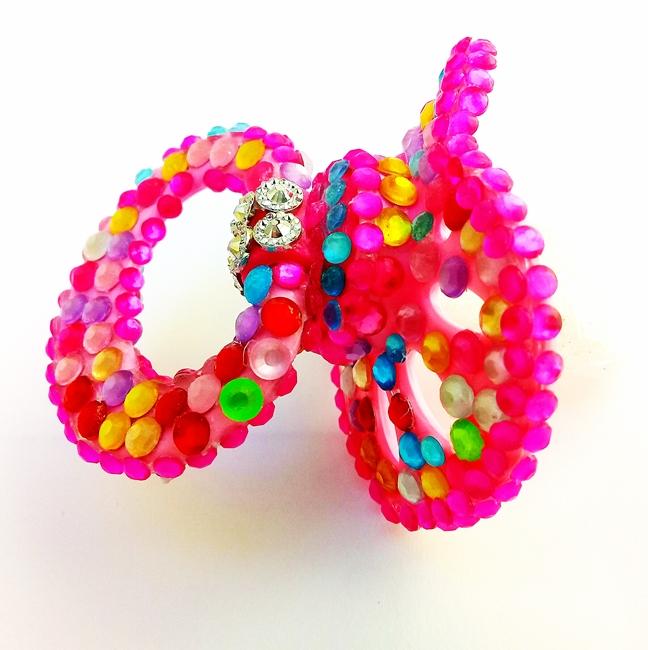 Chupeta Age Play  artesanal - Ref. chu 500/0124 Rosa Colorida