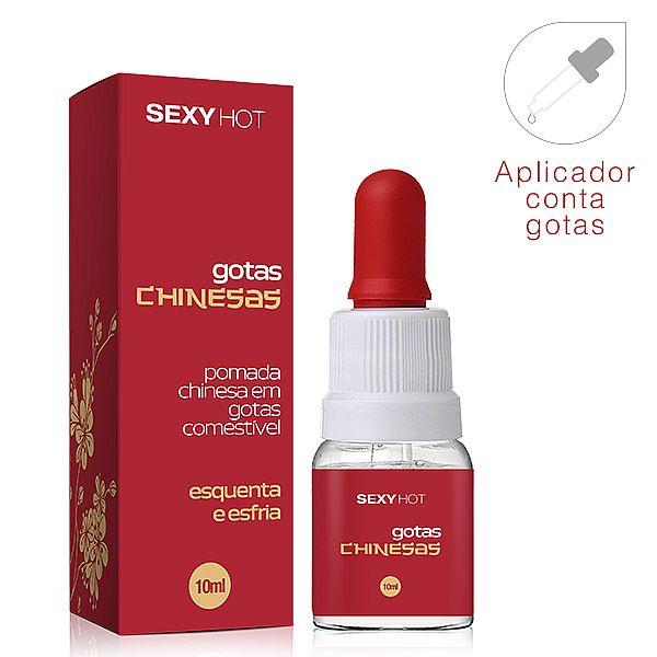 Gotas Chinesas - Gel Aromatizante Comestível (Excitante Esquenta Esfria)  10 ml - referência CO285/0209