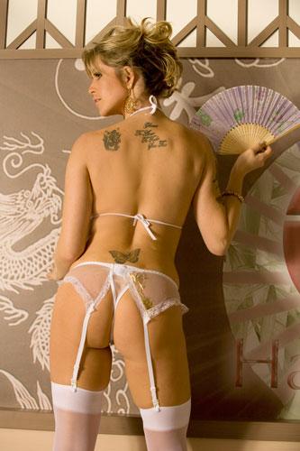 Fantasia Chinesinha Erótica c/ Meia 7/8 e Leque - referência 569/0102