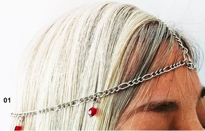 Corrente Cabeça Biju enfeite cabeça Metal Ref. 500/0119