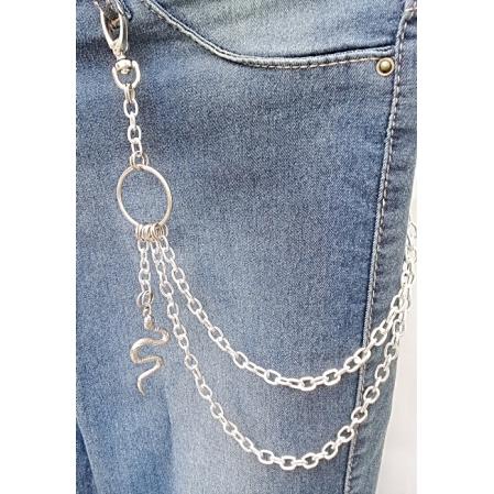Corrente para calça biju artesanal - Cobra  - Ref. BIJU 400/0119