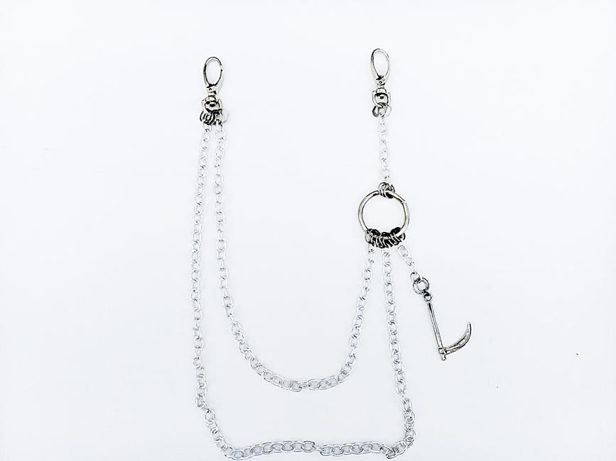 Corrente para calça biju artesanal - Foice  - Ref. BIJU 400/0119