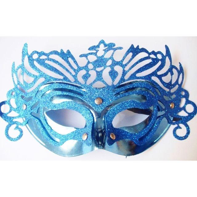 Máscara P/Festas - Veneziana - Azul Royal - referência 14528/0207A