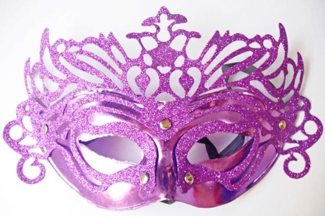 Máscara P/Festas - Veneziana - Lilás - referência 14528/0207A