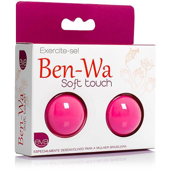 Ben-Wa, para exercícios vaginais - em Soft Touch - Rosa - refer: EVA038/0317