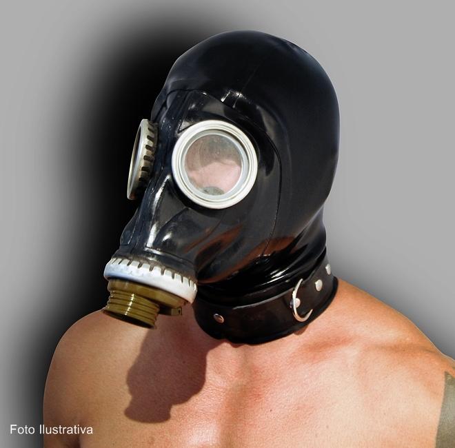 Máscara de Gás GP5, Borracha Estilo Militar Soviético, Sem Filtro, Linha Torture - GP5  Ref. GP5/0113 Preto