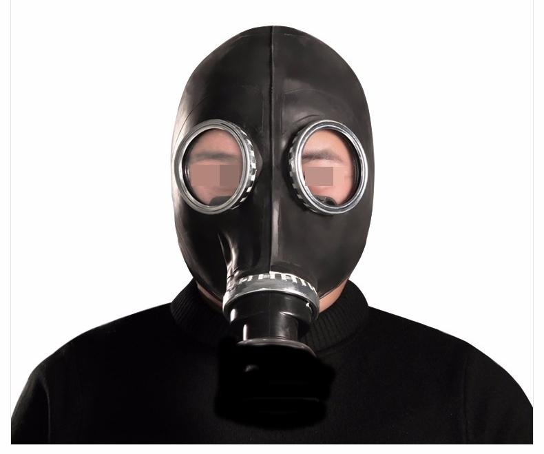 Máscara de Gás, GP5 Borracha Estilo Militar Soviético Sem Filtro, Linha Torture - GP5  Ref. GP5/0113 Preto