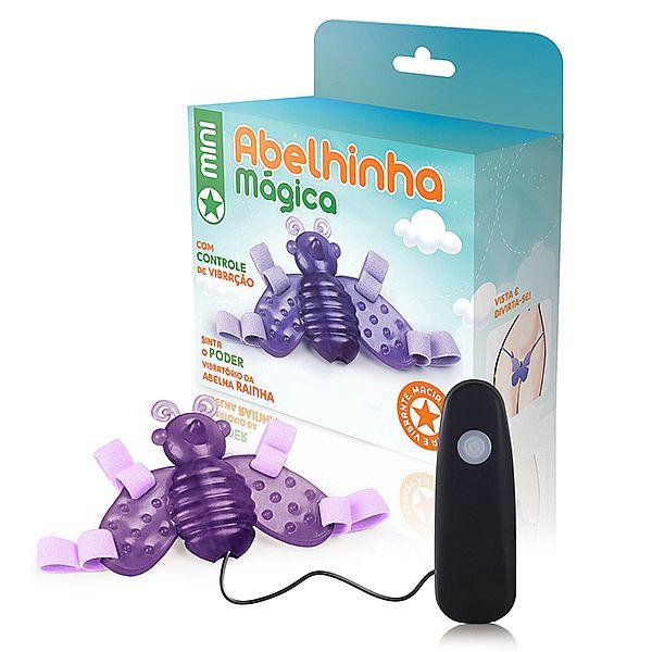 Mini Abelha mágica lilás - 12 variações de velocidade - Ref. MAS10D/0316